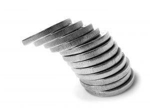 komín z mincí