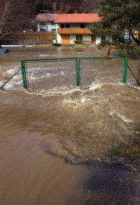 zatopená zahrada
