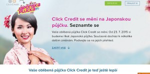 změna click credit na japonskou půjčku