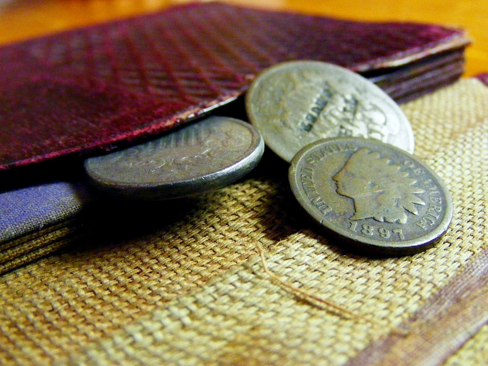 Mince v peněžence